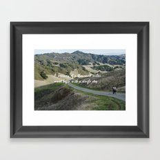 Thousand Miles Framed Art Print