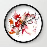 oriental Wall Clocks featuring oriental by Lua Fraga