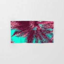 Peach and Teal Tropical Tree Hand & Bath Towel