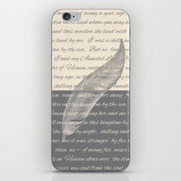 ANNABEL LEE (Allan Poe) iPhone Skin