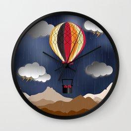 Balloon Aeronautics Rain Wall Clock