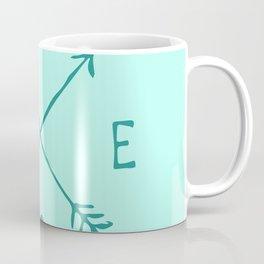 Find My Way \\ Teal Compass Art Coffee Mug