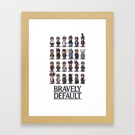 Bravely Default Framed Art Print