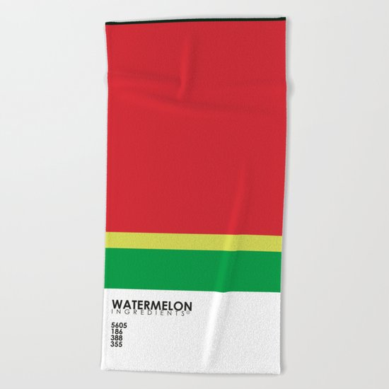 Pantone Fruit - Watermelon Beach Towel