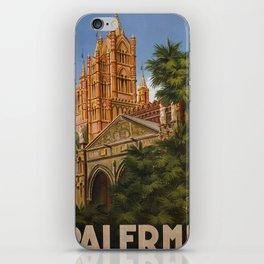vintage Palermo Sicily Italian travel ad iPhone Skin