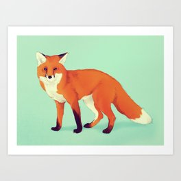 A simple fox. Art Print