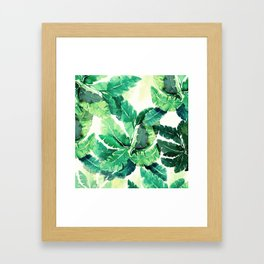 Spring Leaves Green Framed Art Print
