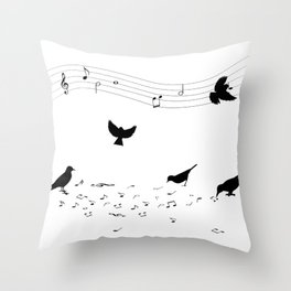 song practice Throw Pillow
