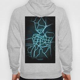 Aalborg, Denmark, Neon, Glow, City, Map Hoody