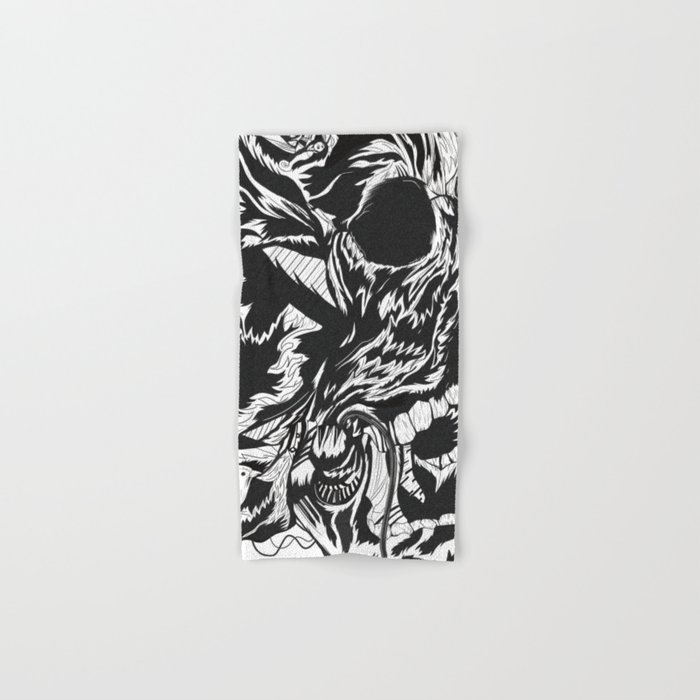 Skull Moustache Hand & Bath Towel
