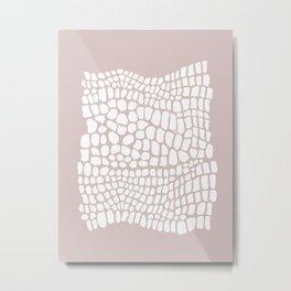 white and beige snakeskin Metal Print