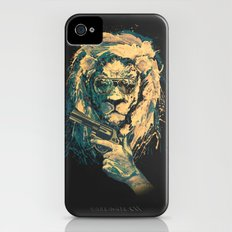 Lion is always Cool Slim Case iPhone (4, 4s)