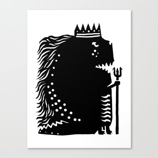 Black king Canvas Print