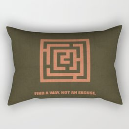 Lab No. 4 -Find A  Way, Not An Excuse Corporate Start-Up Quotes Rectangular Pillow