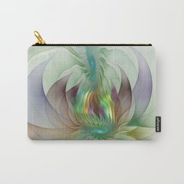 Colorful Shapes, Modern Fractals Art Carry-All Pouch