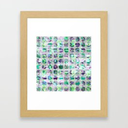 Jade and Violet Sequin Polka Dots Framed Art Print