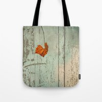 thanksgiving Tote Bags featuring Thanksgiving by V. Sanderson / Chickens in the Trees