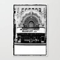 theater Canvas Prints featuring Theater by Yancey Wells