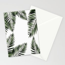 Watercolor tropical palm leaves Stationery Cards