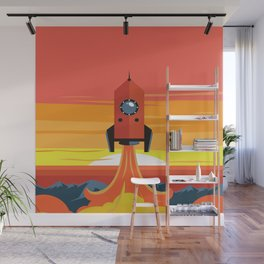 Deco Rocket Wall Mural