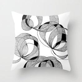 Broken Slinky Throw Pillow