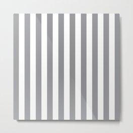 Vertical Grey Stripes Metal Print