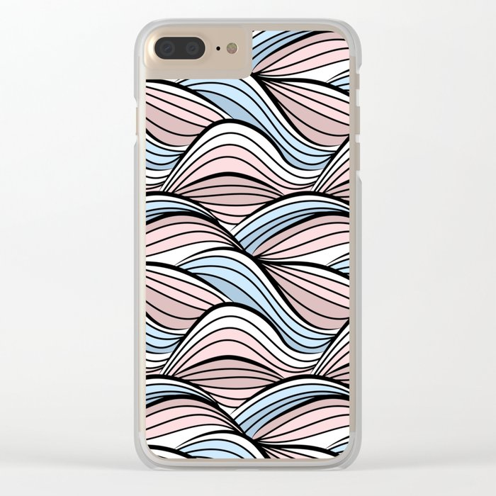 Thread pink blue Clear iPhone Case