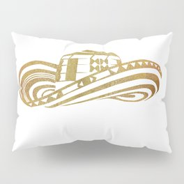 Colombian Sombrero Vueltiao in Gold Leaf Pillow Sham
