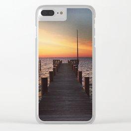 Chesapeake Bay at Dawn Clear iPhone Case