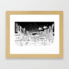 Noah's Spaceship Framed Art Print