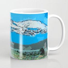 Abstract Painting Mt Everest Coffee Mug