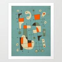 kandinsky Art Prints featuring Background Music by Jazzberry Blue
