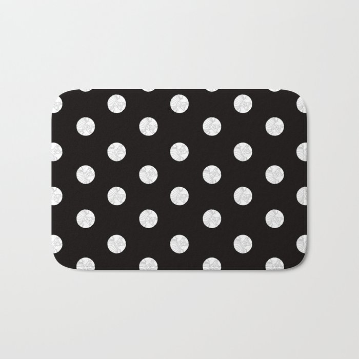 Polka like you mean it Bath Mat