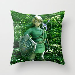 The Legend of Link Throw Pillow