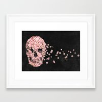 quote Framed Art Prints featuring A Beautiful Death  by Terry Fan