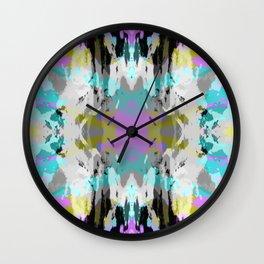 Kameko - Colorful Abstract Retro Art Pattern Wall Clock
