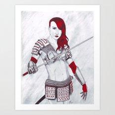 Samurai Knox Art Print