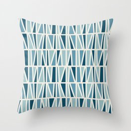 Slanted in Blue Throw Pillow