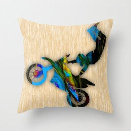 Dirt Bike Throw Pillow