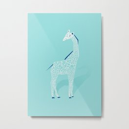 Animal Kingdom: Giraffe II Metal Print