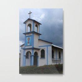 Rural Church Metal Print