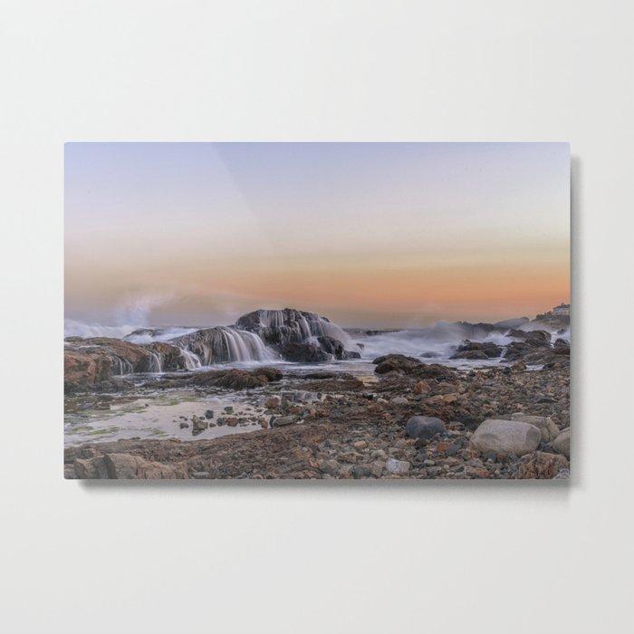 Waves on the rocks at the Backshore Metal Print