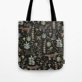 Woodland Nature at Night Tote Bag