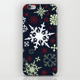 Christmas pattern with snowflakes iPhone Skin