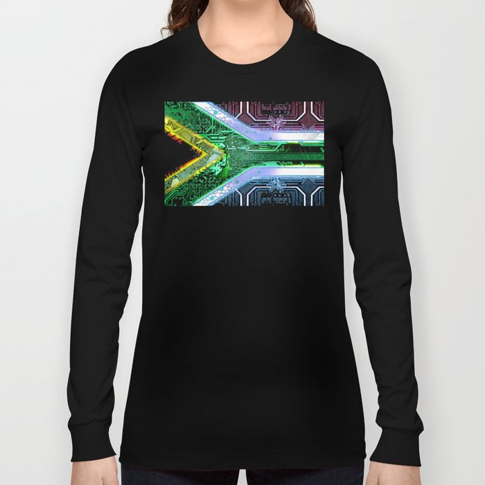 circuit board South Africa (Flag) Long Sleeve T-shirt