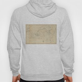 Vintage Map of The World (1848) 2 Hoody