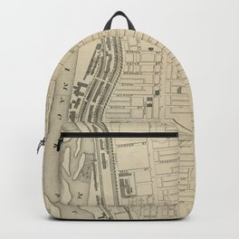 Vintage Map of Manchester NH (1872) Backpack