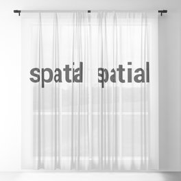 spatial Sheer Curtain
