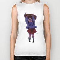 gravity falls Biker Tanks featuring Gravity Falls- Floating by Welcoming-Meg