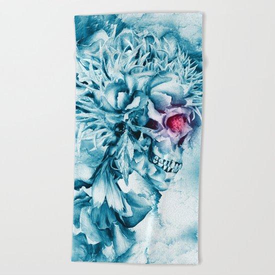 Frozen Skull Beach Towel